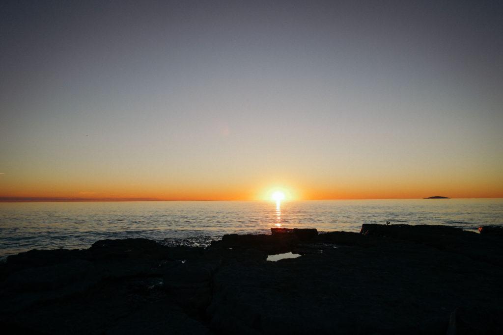 Solnedgång på Ölands nordvästra Alvar