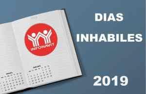 dias inhabiles 2019