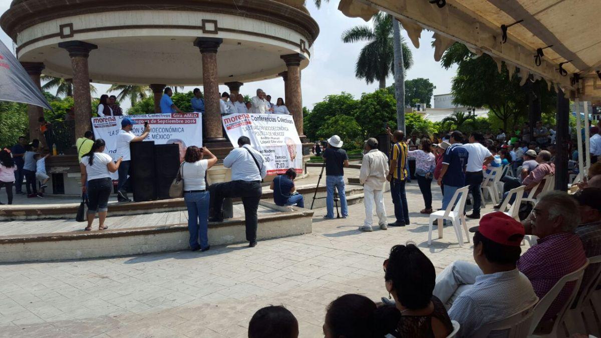 En Altamira llama AMLO a la cuarta transformación de México