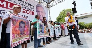 Deja en claro AMLO tan luego triunfe habrá justicia para jóvenes de Ayotzinapa