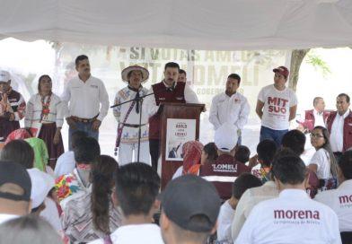 Respeto y más apoyo a las comunidades indígenas, promete el gobierno del Dr. Carlos Lomelí