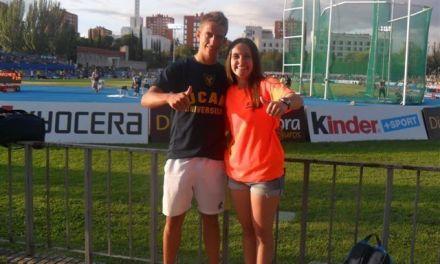 Dos atletas cehegineros participan en el Meeting de Atletismo de Madrid 2014