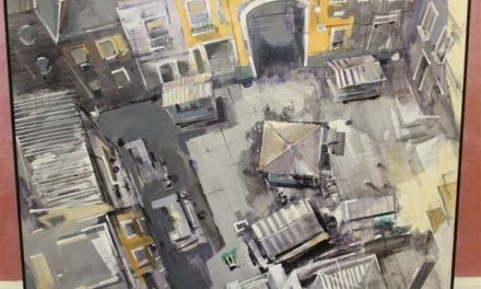 David Escarabajal  de Alcoy gana el  I Concurso de Pintura al Aire Libre