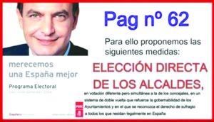 Promesas de Zapatero