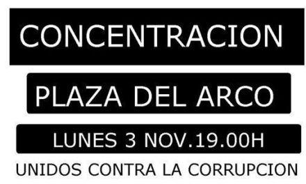 «Unidos contra la corrupciu00f3n en Caravaca»