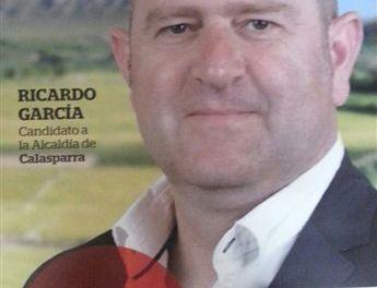 """""""Con dialogo y comprensión haremos ver a la ciudadanía que juntos podremos superar las dificultades del momento y apelar a la unión que siempre nos ha caracterizado"""", Ricardo García, candidato de Ganar Calasparra"""