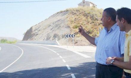 Corregida la peligrosa curva de Santa Bárbara en Cehegín