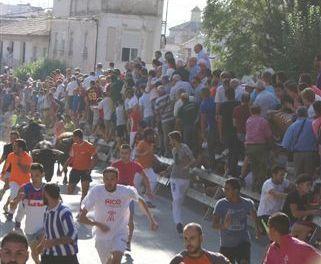 El encierro del día 3 en Calasparra, en 8. 1´43