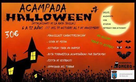 Un Halloween de miedo en Bullas en la acampada con Naturaventura El Romero