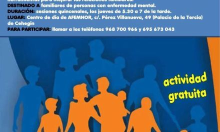 La Escuela de Familias de Salud Mental de AFEMNOR comienza el 3 de marzo