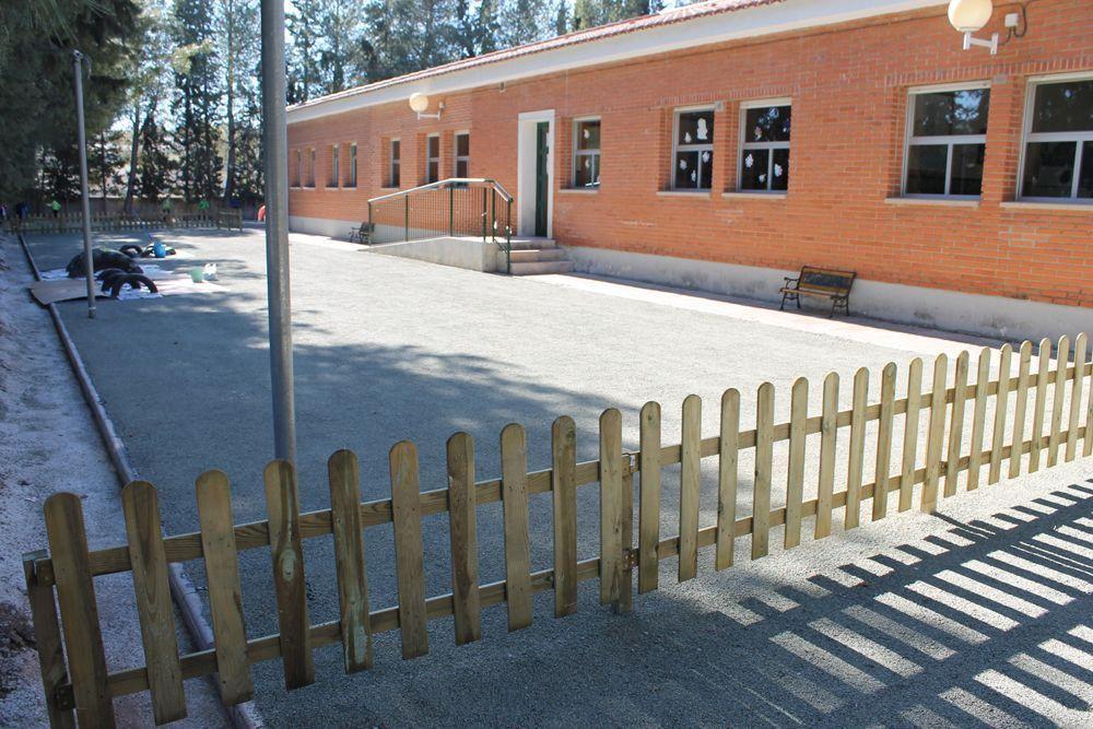 Patio del colegio de Bullas Antonio Machado