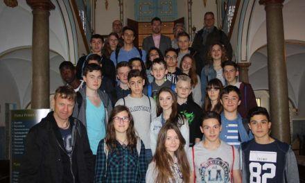 El Alcalde de Cehegín recibe a un grupo de escolares alemanes de Bad Wildbad