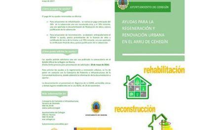 La  concejalía de Urbanismo de Cehegín publica un folleto sobre el Plan de Rehabilitación de Vivienda (ARRU)