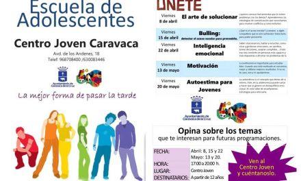 Juventud Caravaca propone nuevos talleres dentro de la 'Escuela de Adolescentes'
