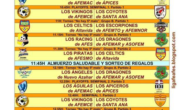 AFEMNOR organiza el 29 de abril las semifinales de la Liga Regional de Fútbol Sala pro Salud Mental
