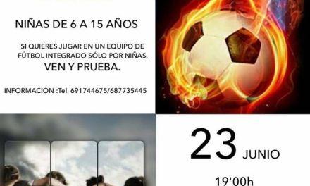 Campaña de captación de futbolistas de A.D. Ciudad de Caravaca-Paco