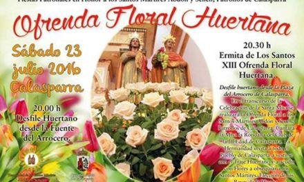 Calasparra se prepara para celebrar la Ofrenda Floral Huertana