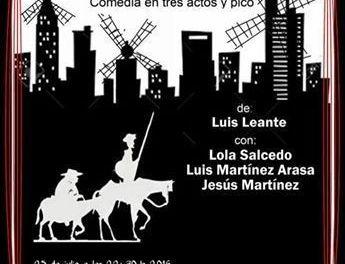 La obra de Luis Leante y Entrementes, inspirada en la literatura cervantina, abre la XXXVI Semana de Teatro de Caravaca