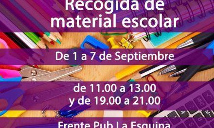 Podemos y Cehegín por el Cambio promueven una campaña de recogida de material escolar usado