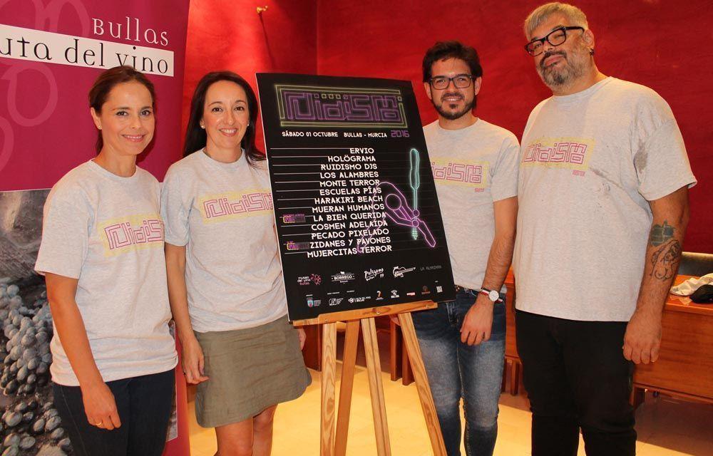 El Ruidismo se consolida en Bullas con doce artistas invitados, entre ellos, La Bien Querida que ofrecerá un concierto exclusivo en el Museo del Vino