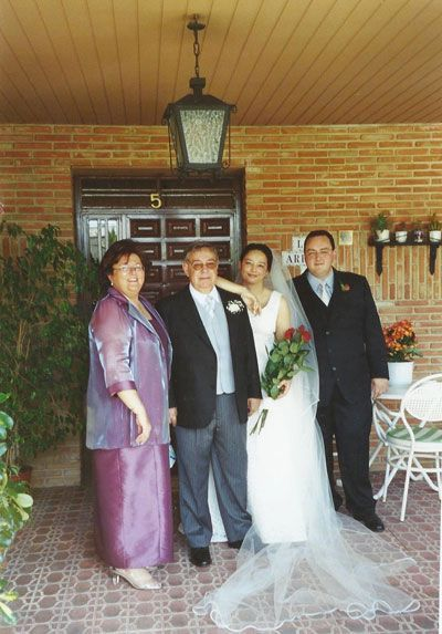 Paco Zapata en la boda de su hija