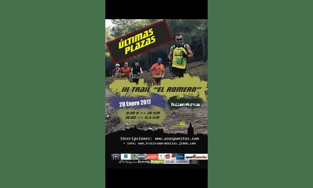La III Trail El Romero se disputa en Bullas este domingo