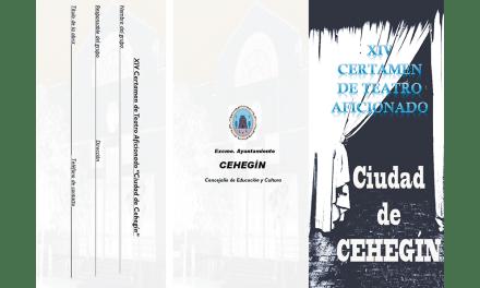 Abierto el plazo de inscripciones para el XIV Certamen de Teatro Aficionado 'Ciudad de Cehegín'