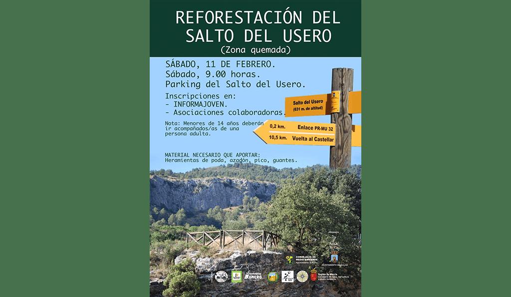 La concejalía de Medioambiente llama a la participación ciudadana para reforestar la zona quemada del Salto del Usero