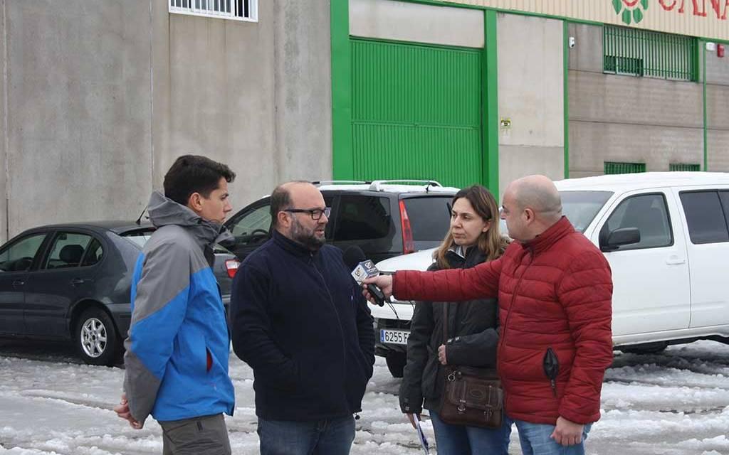 La Concejala de Agricultura visita las pedanías de Cehegín para hacer una valoración de los desperfectos causados por la intensa nevada