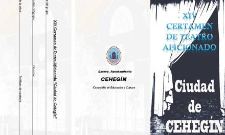 El próximo jueves finaliza el plazo de inscripciones para el XIV Certamen de Teatro Aficionado 'Ciudad de Cehegín'