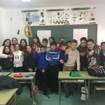 Alumnado del Juana Rodríguez de Moratalla aprenden en un taller contra la violencia machista