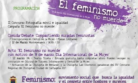 «El feminismo no muerde»; campaña del Ayuntamiento de Moratalla con motivo del Día Internacional de la Mujer