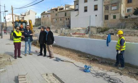 Comienza la última fase de las obras para construir tres paradas de autobús junto a la plaza del Templete en Caravaca de la Cruz