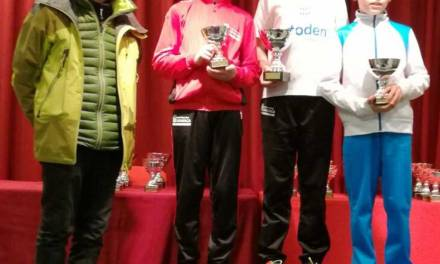 Triplete del Club Triatlón Caravaca en el duatlón disputado en casa