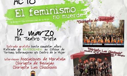 """Jornada de convivencia en Moratalla y acto """"el feminismo no muerde"""" para cerrar las actividades del Día Internacional de la Mujer"""