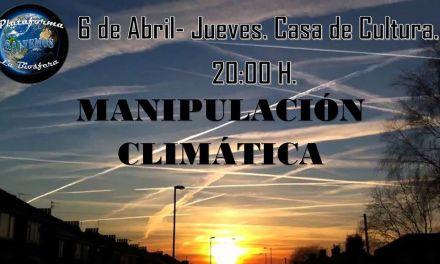 Charla sobre la manipulación climática el 6 de abril en Bullas