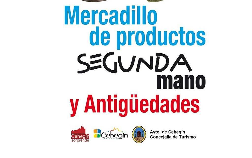 El mercadillo de segunda mano y antigüedades de Cehegín vuelve el domingo, 21 de mayo