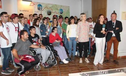 Jóvenes con discapacidad intelectual sellan en el Museo del Vino de Bullas en su camino hacia Caravaca para ganarse el Jubileo