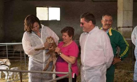 La directora general y el Concejal de Agricultura visitan la explotación la caravaqueña Engracia Gil, 'Ganadera del Año'