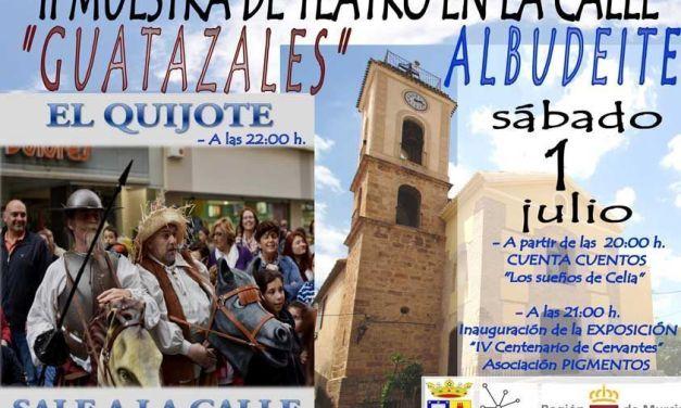 El teatro sale a la calle en Albudeite este sábado en la Muestra de Teatro Guatazales