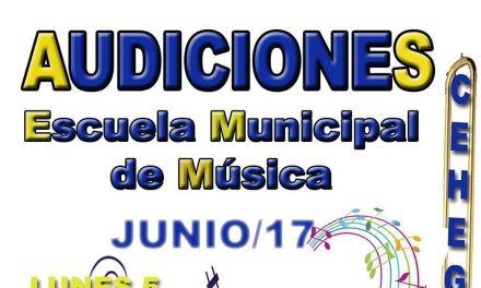 La Escuela Municipal de Música de Cehegín realizará sus tradicionales audiciones