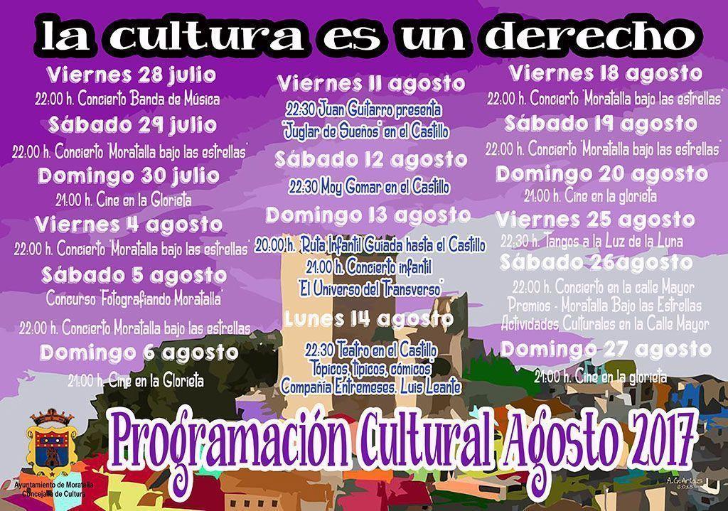 Programacion cultural agosto Moratalla