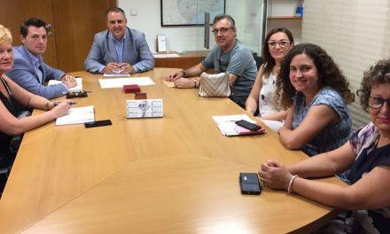 Reunión de la Asociación de comercio y Hostelería de Cehegín con Francisco Abril para buscar vías de financiación para sus proyectos