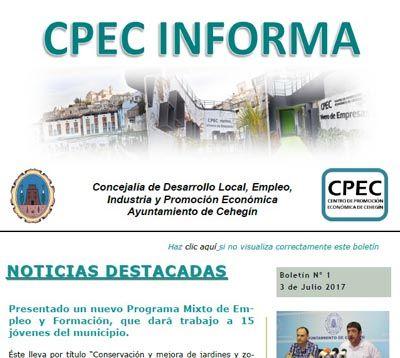 """Nace """"CPEC INFORMA"""", el boletín digital para empresas, emprendedores y desempleados"""