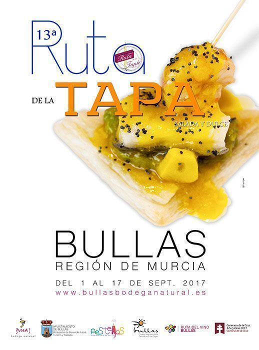 Cartel Ruta de la Tapa Bullas 2017
