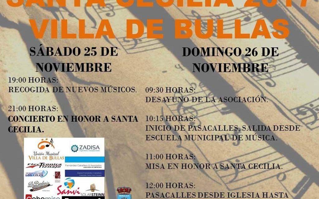 Actividades que ha preparado la Banda Villa de Bullas para celebrar Santa Cecilia