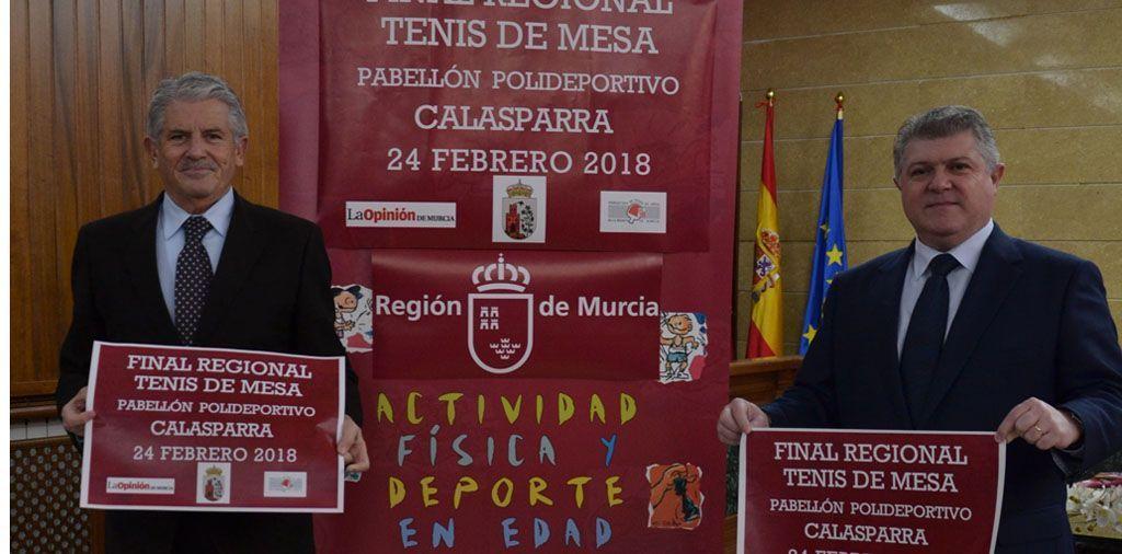 Presentada en Calasparra la Final Regional de Tenis de Mesa de Deporte en Edad Escolar