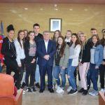 Recepción institucional en Calasparra al alumnado de intercambio de Donzdorf