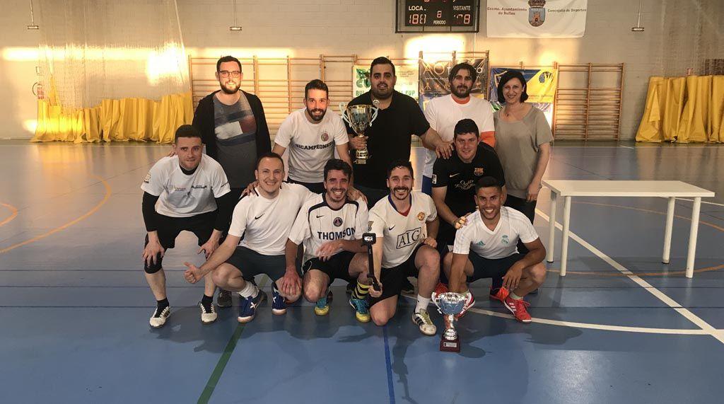 Barrio Nuevo ganan la Copa de la Liga de Fútbol Sala Local de Bullas
