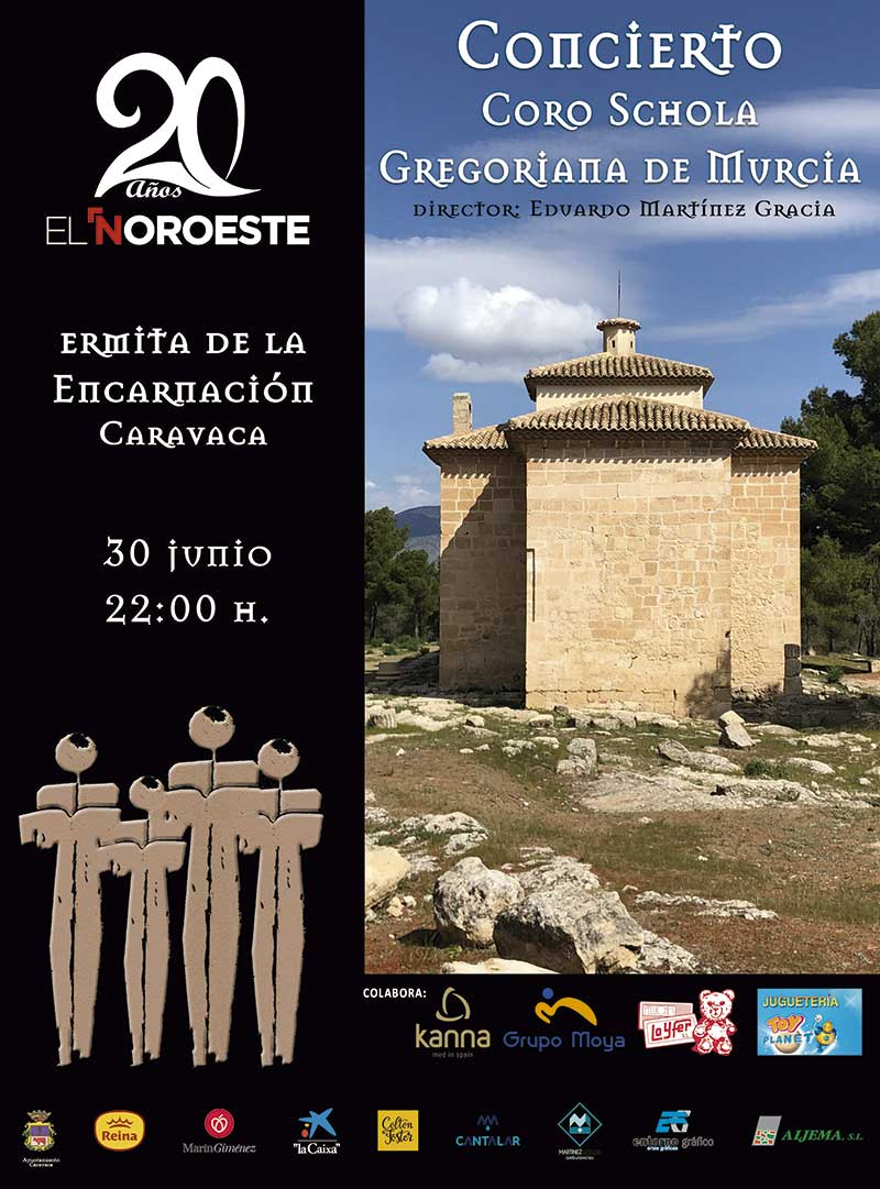 Concierto Coro Schola Gregoriana de Murcia 20 años El Noroeste